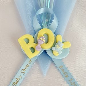 Boy Sign on Blue Tulle Capia