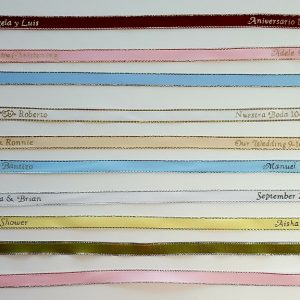 Gold or Silver Edge Personalized Ribbons
