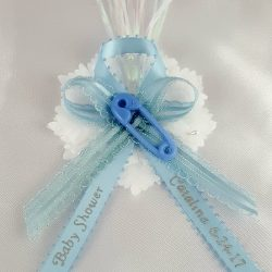 Safety Pin on Fancy Ribbon with Flex and Carnation Capia