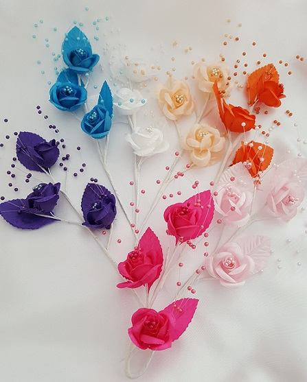 Satin Rose with Pearls