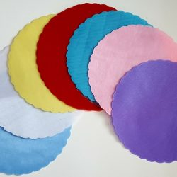 Scalloped Edge Organza Circles
