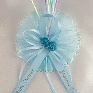 Sleeping Baby on Satin Bow with Flex and Sheer Background Capia
