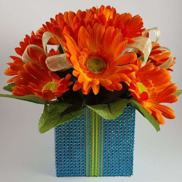 Orange Daisy Bush Centerpiece