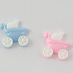 Small Baby Carriage Charms