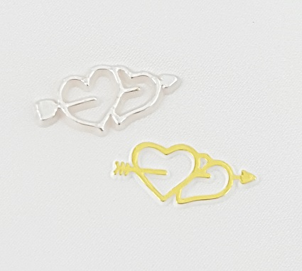 Double Hearts Charms