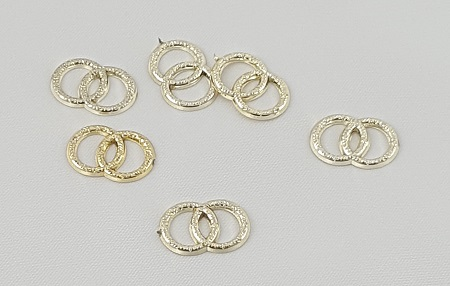 Gold Double Rings Charms