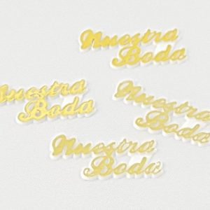 Gold Nuestra Boda Charms