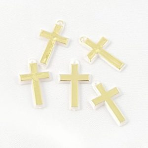 Medium Gold Cross Charms