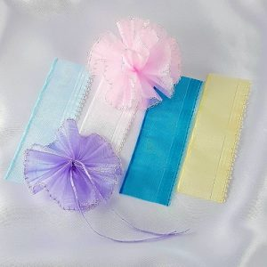Sheer Organza Pull Bow Ribbon with Iridescent Edge