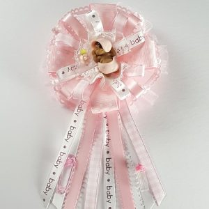 Baby Shower Corsage - African American Baby Girl