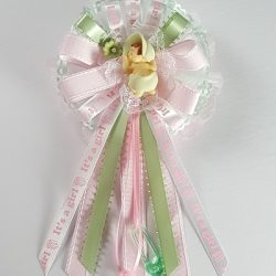 Baby Shower Corsage - Pink and Mint Green