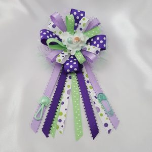 Baby on Heart - Baby Shower Corsage