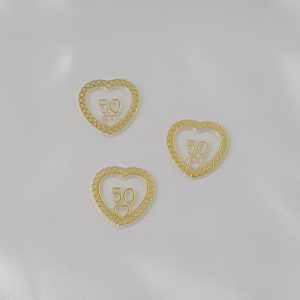 # 50 in Heart Gold Charms