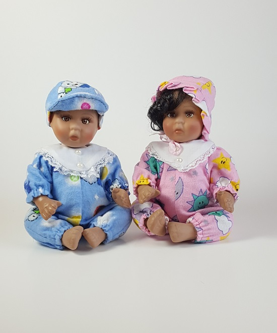 African American Baby Doll - Baby Shower Centerpiece