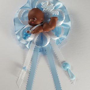 Baby Shower Corsage - African American Kewpie Baby Boy