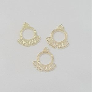 Gold Engagement Ring Charms
