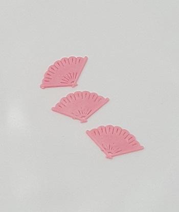 Pink Fan Charms