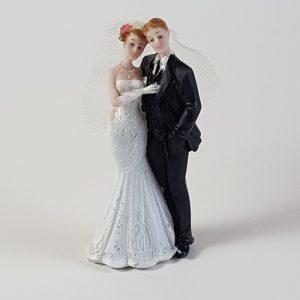 Romantic Hug Bride and Groom Figurine