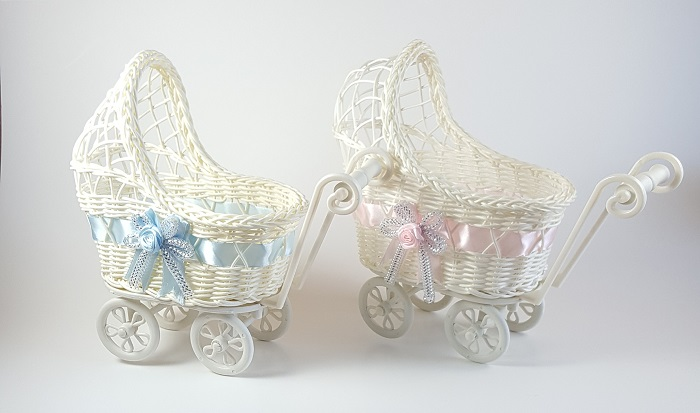 Wicker Baby Carriage Baby Shower Centerpiece R R Party Store