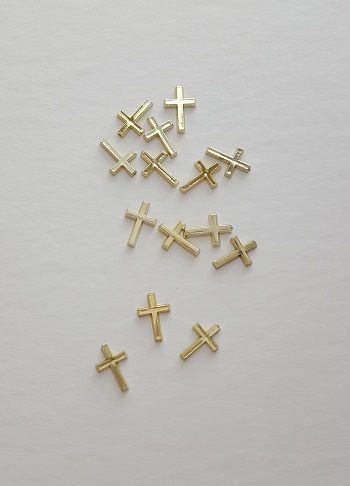 Gold Cross Charms in Bulk