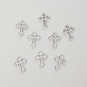 Silver Cross Acrylic Charms in Bulk