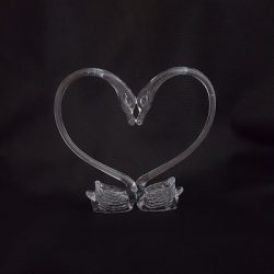Double Swan Heart - Large