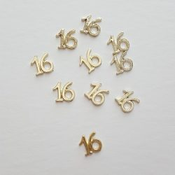 Gold # 16 Charms in Bulk