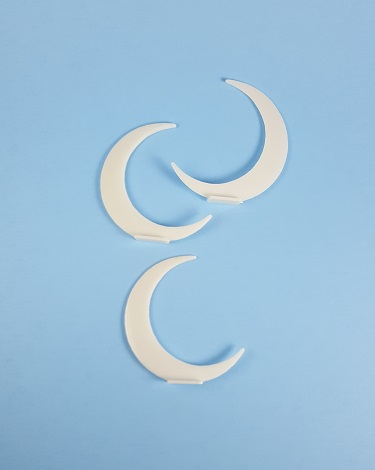 Half Moon Background - Ivory
