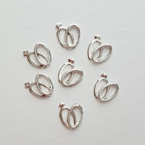 Silver Double Rings Charms in Bulk