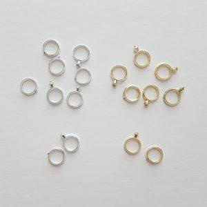Tiny Wedding Ring Set Charms in Bulk