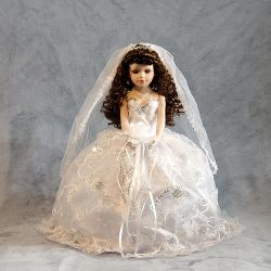 Bride Porcelain Umbrella Doll - 18