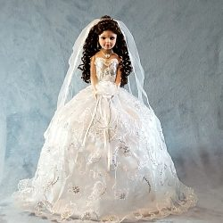 Bride Porcelain Umbrella Doll - 24