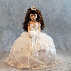 Quinceañera Porcelain Umbrella Doll - 18