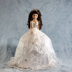 Quinceañera Porcelain Umbrella Doll - 24
